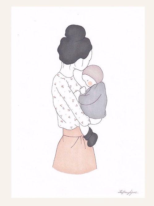 Affichette Maman d'Amour Garçon - Les Yeux Fripons