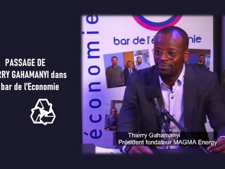 Notre CEO, Thierry GAHAMANYI, dans Le bar de l'Economie