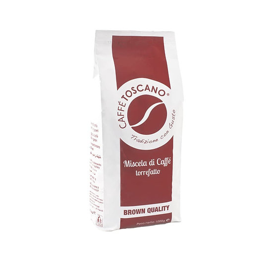 Caffe' Toscano Brown Quality Coffee Beans 1kg