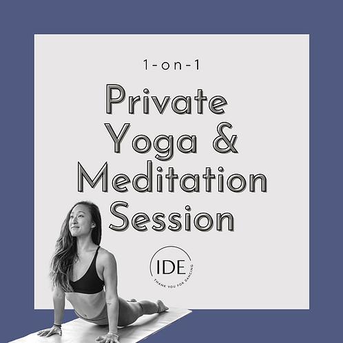 1-on-1 Private Yoga & Meditation Session
