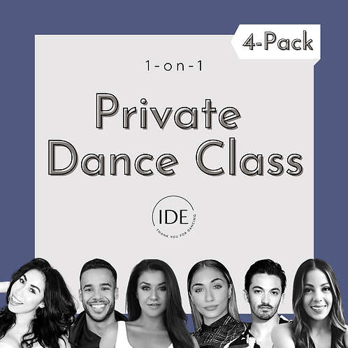 4-Pack of 1-on-1 Private Dance Classes