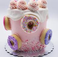 Loaded donut cake