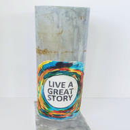 Live a great story cake