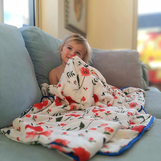Grow With Me Bamboo Muslin Blanket (4 layers) Wild Flowers