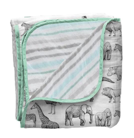 Teolaí Bamboo Muslin Blanket (4 layers)Safari