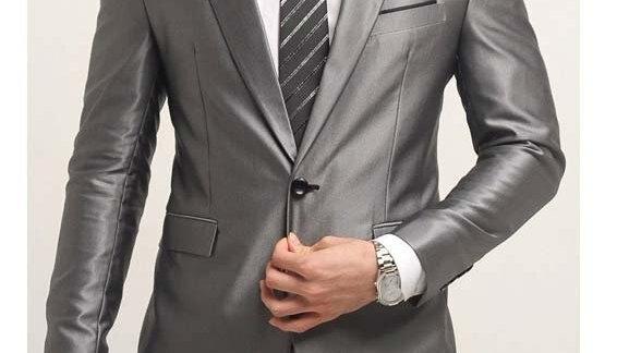 traje hombres trajes clásicos gris