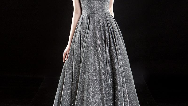 vestido de noche, vestido de fiesta largo lentejuelas.