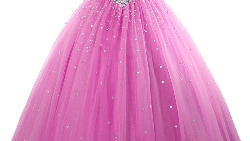 Vestido de Quinceanera color Fuscia