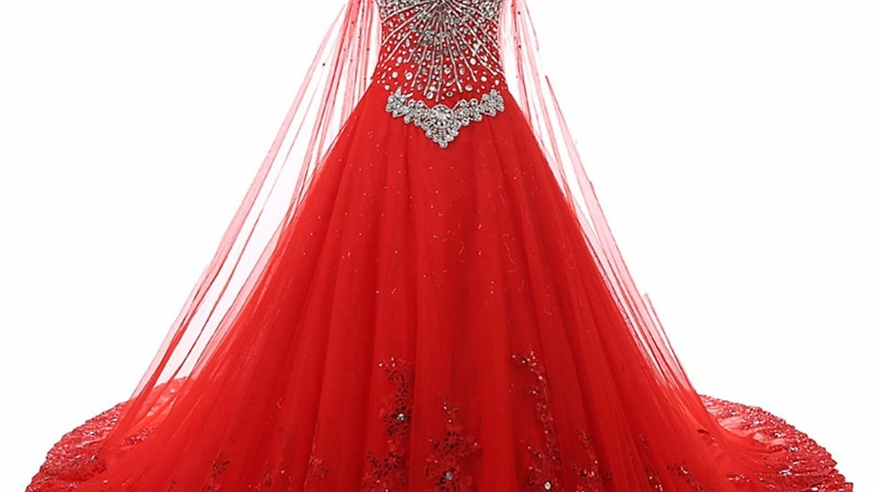 Elegante vestido de quinceanera piedras