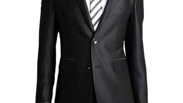 traje hombres trajes clásicos negro satinado