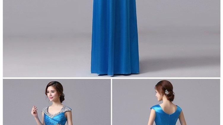vestido azul turqueza para graduación, fiestas, vestidos largos de dama de honor