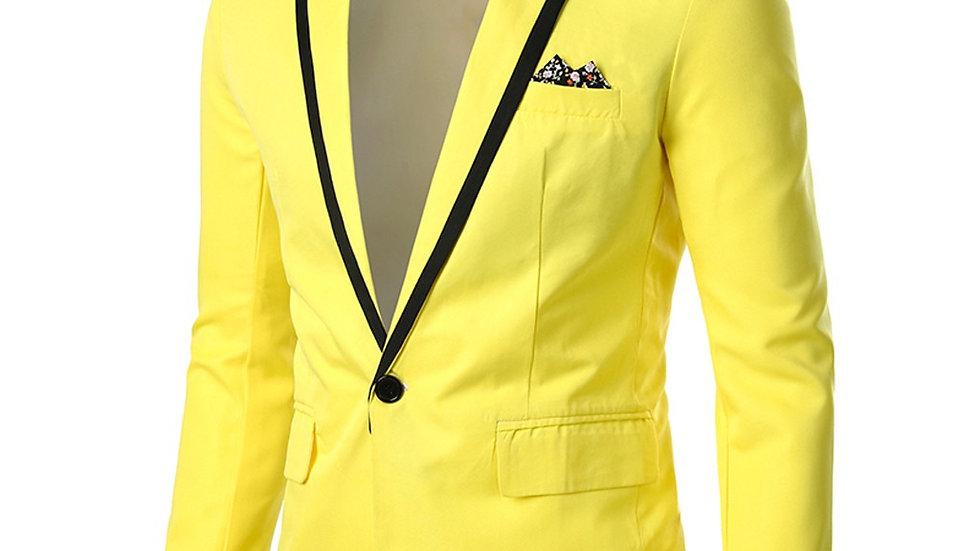 Chaqueta amarilla en combinacion pantalon negro