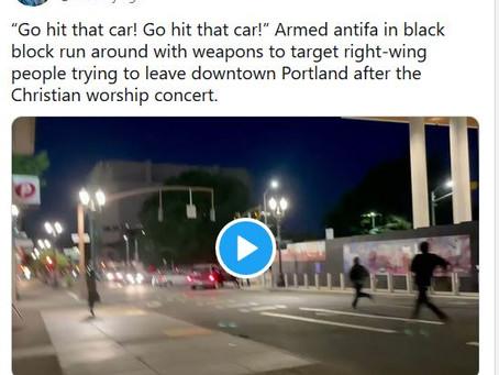"Portland Police set up Antifa Attack on Pastor Artur, but Sean Feuchts ""Let us Worship"" unstoppable!"