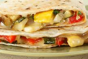 Roasted Vegetable and Bean Quesadilla