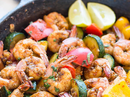 Lemon Ginger Shrimp Stir Fry