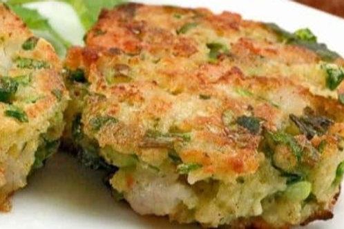 Scallion-Lime Shrimp Cake