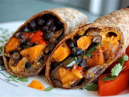 Sweet Potato and Bean Burrito