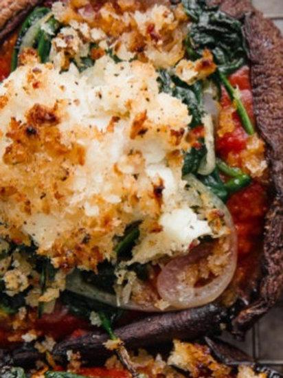 Sicilian Quinoa Stuffed Portobellos