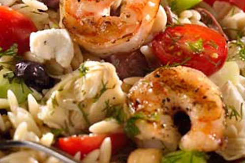 Shrimp with Mediterranean Orzo