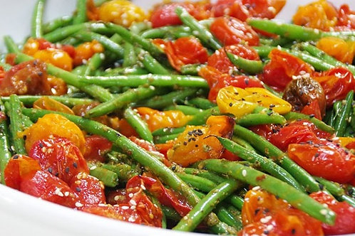 Green Beans and Blistered Tomatoes