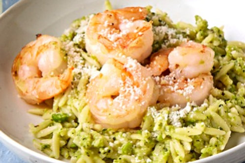 Pesto Shrimp and Orzo