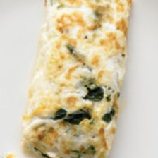 Spinach Feta Egg White Omelet