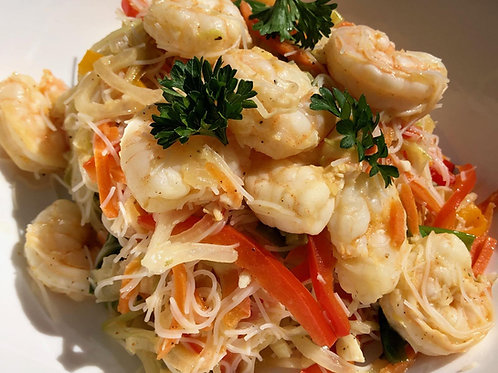 Lemon Pepper Shrimp Stir Fry