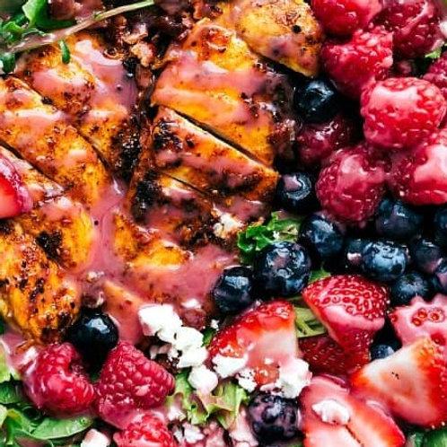 Chicken, Berry, Feta Salad
