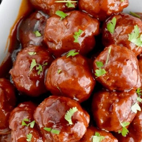 Honey BBQ Turkey Meatballs