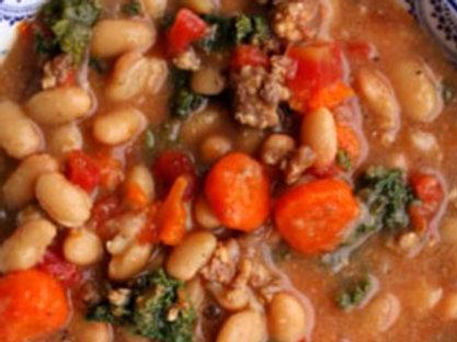 Turkey, White Bean, and Kale Soup