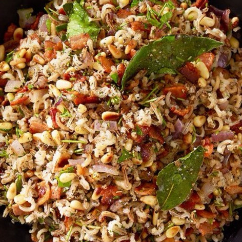 Herb Wild Rice with Bacon