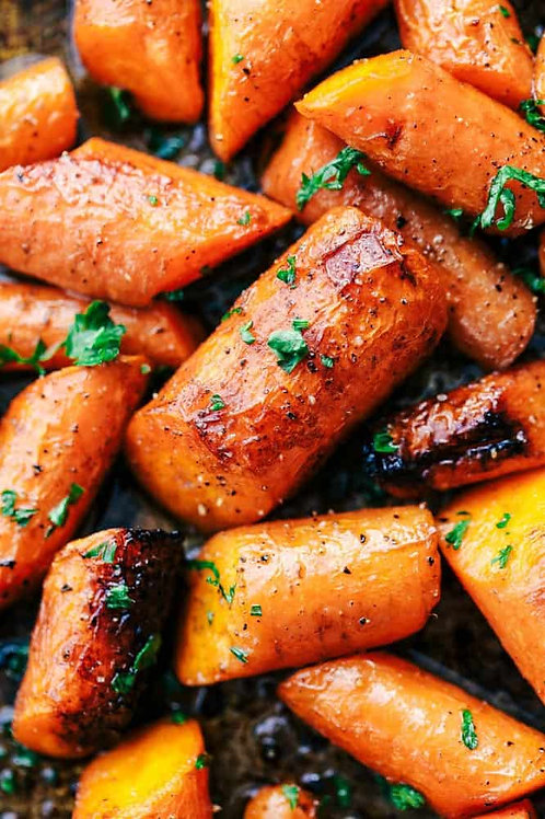 Blackened Honey Carrots