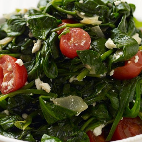 Spinach, Tomatoes, Feta