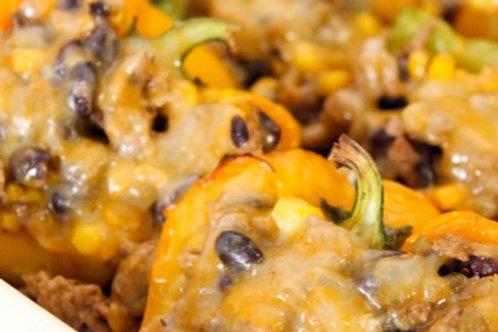 Corn and Black Bean Stuffed Peppers