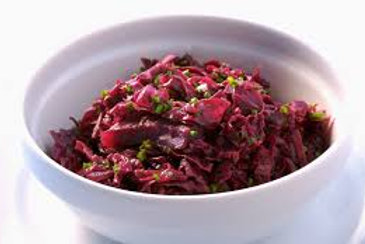Braised Red Cabbage Salad