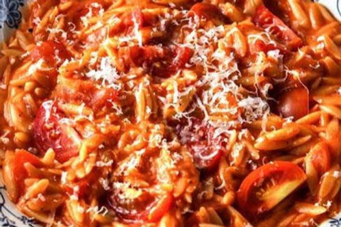 Cheesy Tomato Orzo