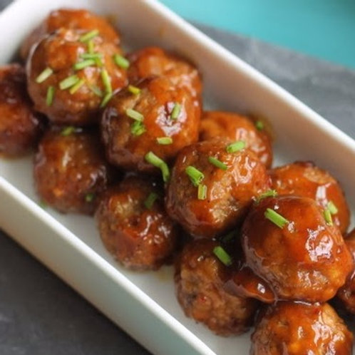 Korean BBQ Turkey Meatballs
