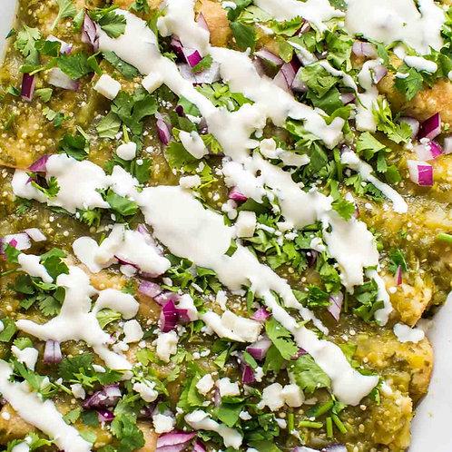 Verde Turkey Enchiladas