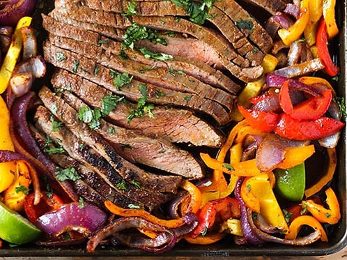 Skirt Steak with onions and peppers