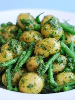 Baby Potatoes and Green Beans