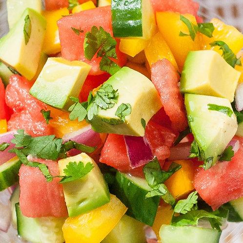 Melon, Tomato, and Cucumber Salad