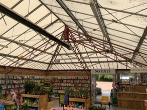 RE-ROOF AT AYLINGS GARDEN CENTRE
