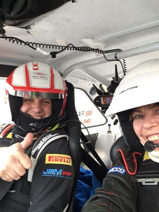Cat Lund with Paul Swift at the Jack Frost Stages