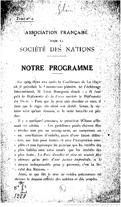 Programme de l'Association française pour les Nations Unies 1918