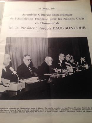 Assemblée Générale Extraordinaire de l'AFNU en l'honneur du Président PAUL-BONCOUR