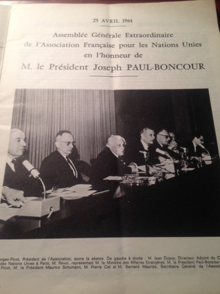 AFNU's Extraordinary General Assembly in honour of President PAUL-BONCOUR
