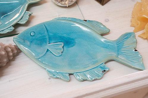 Piatto pesce turquoise grande