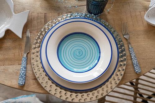 Servizio di piatti mare blu e turchese Orchidea
