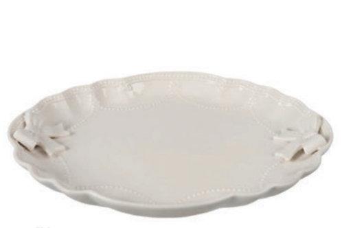 Vassoio ovale ceramica bianco