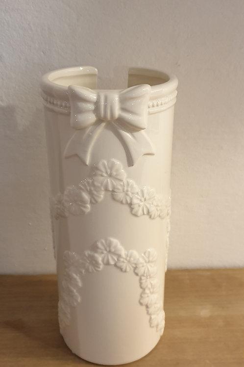 Porta bicchieri ceramica bianco